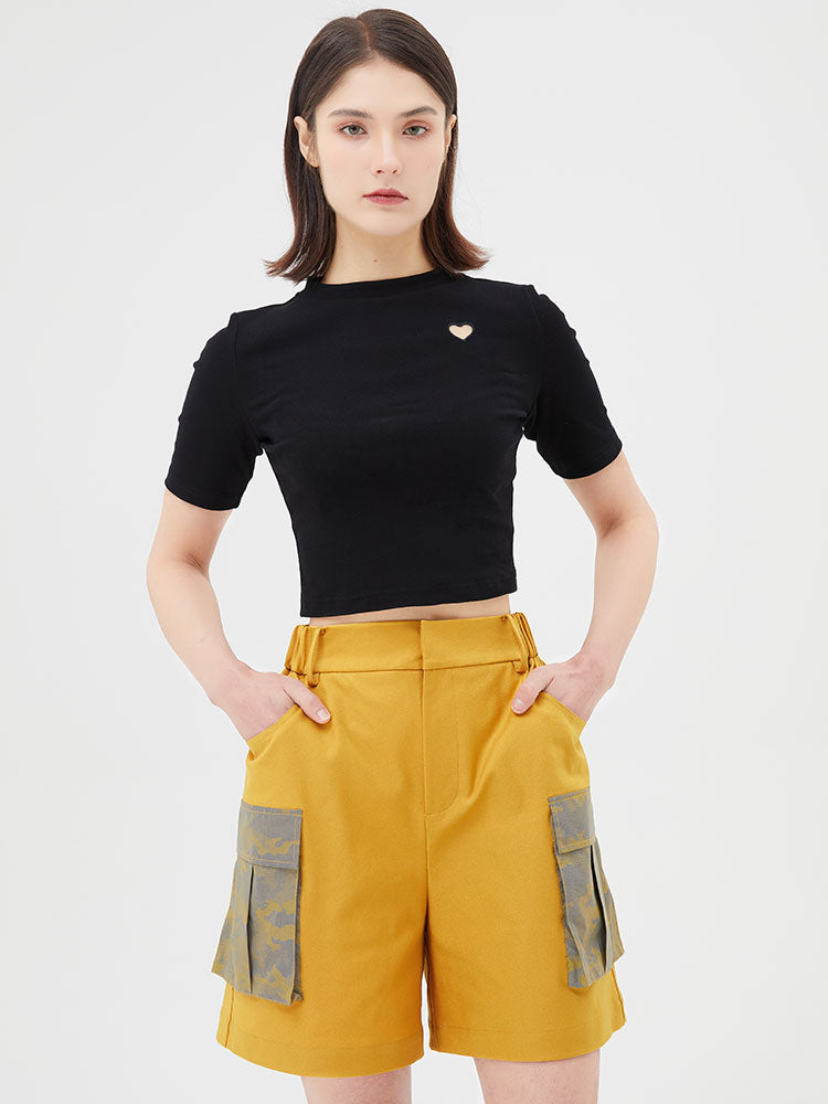 Splicing Color Workwear Shorts
