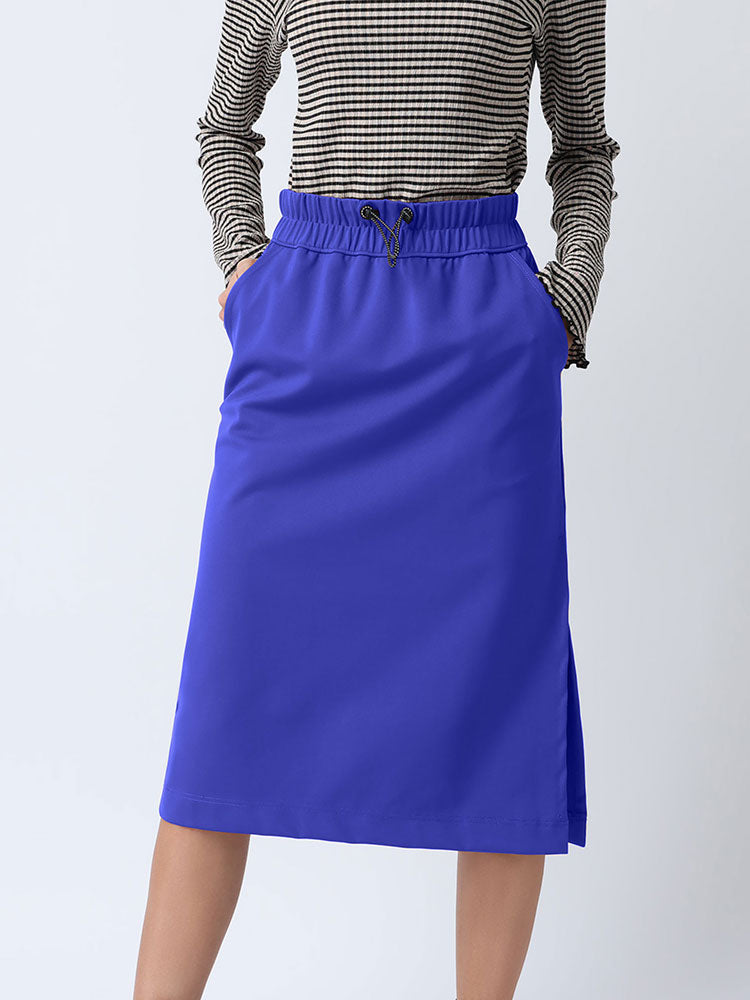 Unilateral Cut Mid Length Skirt