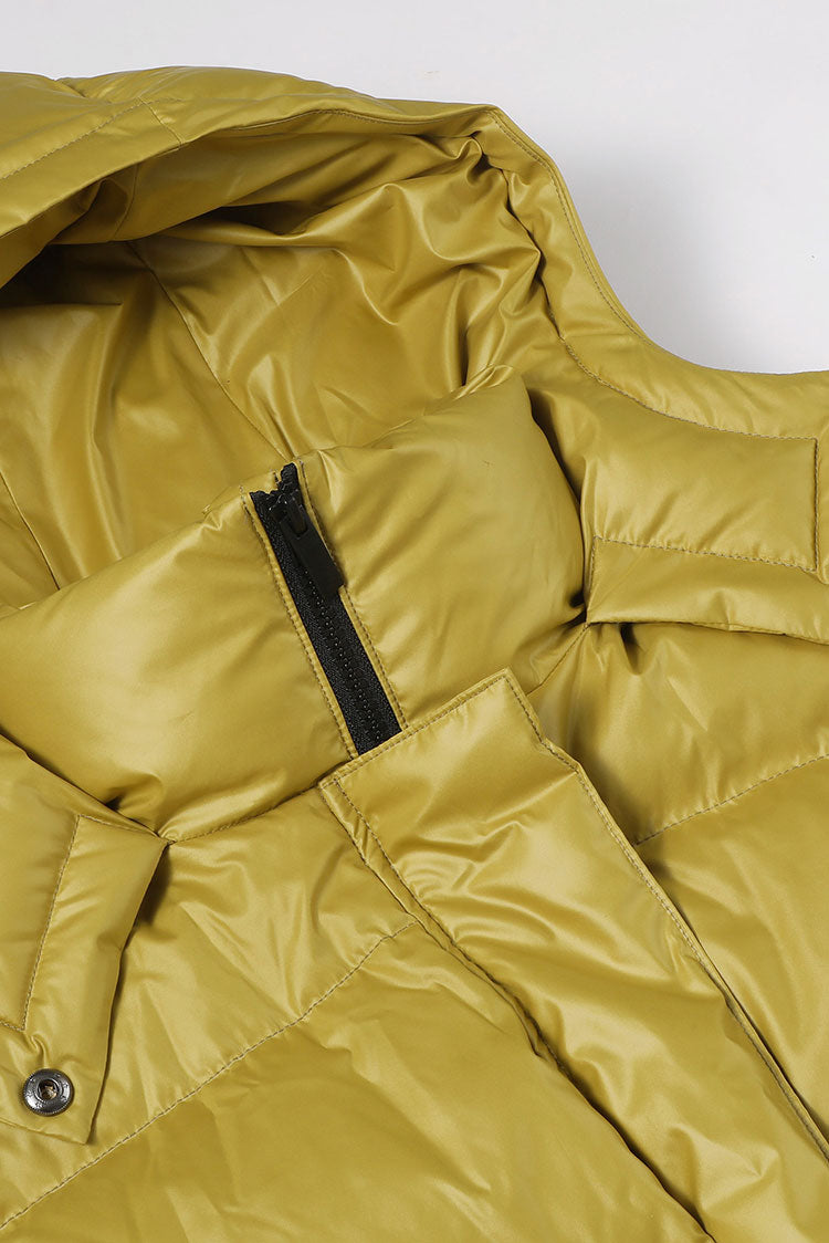 Detachable Sleeve Extra-Long Down Jacket