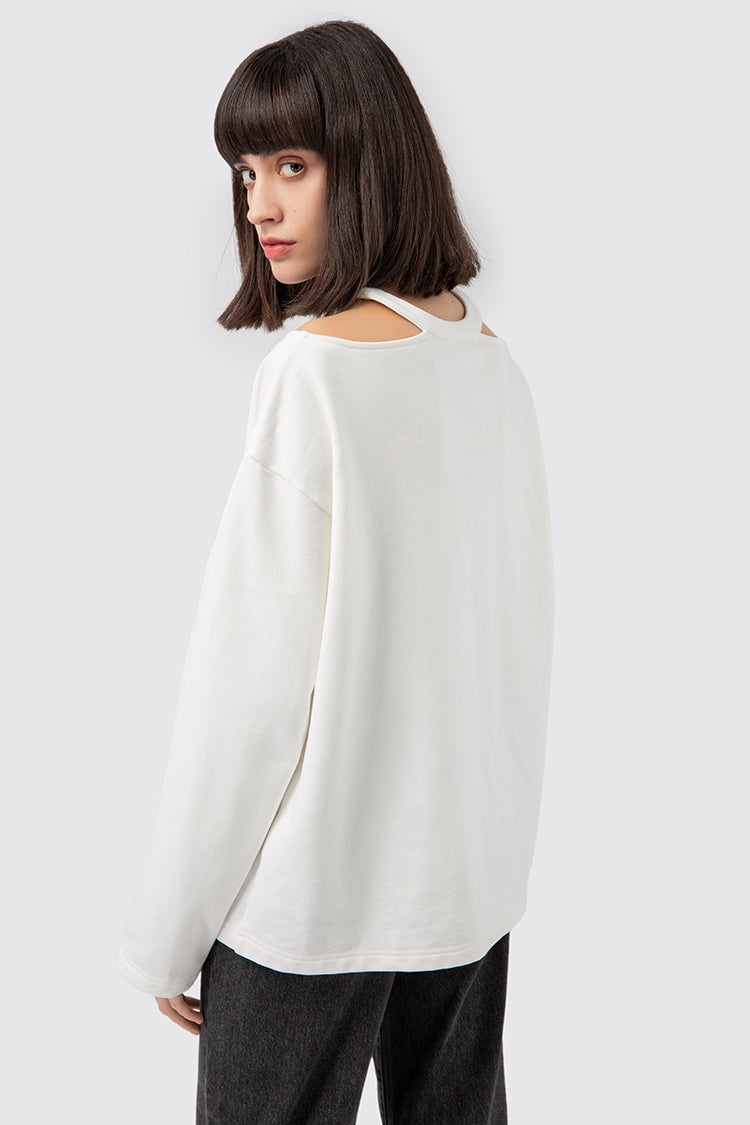 Off Shoulder Base Sweatshirt