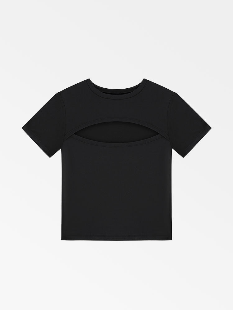 Front Cut Out Slim Tee
