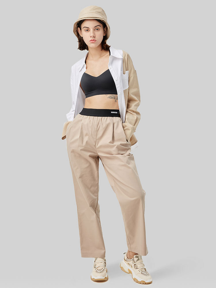 Elastic Waistband Casual Long Trousers