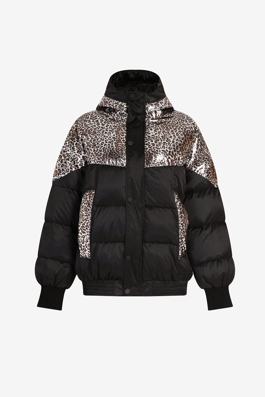 Leopard Print Down Jacket