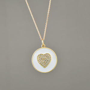 Hope Enamel Necklace