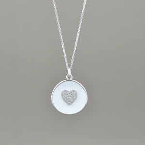 Lauren Enamel Heart Necklace