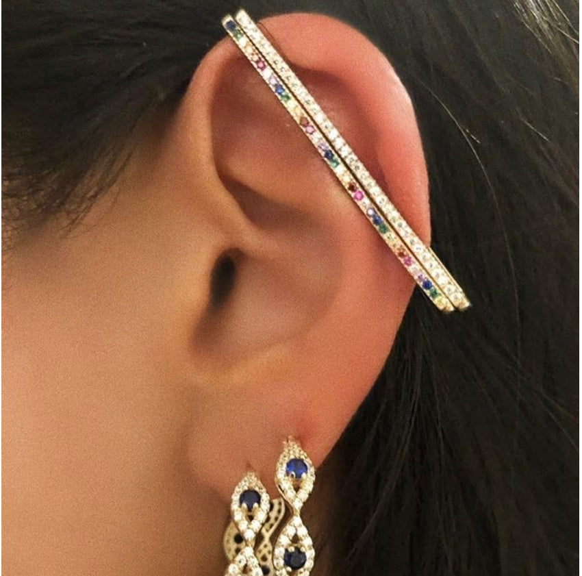 Pave Rectangle Ear Cuff