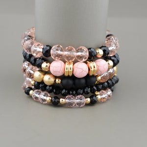 Bella Pink Turquoise Stack