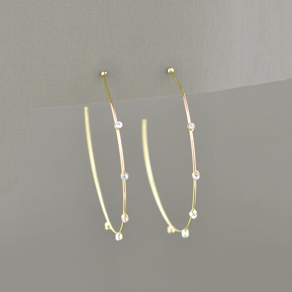 Tatum Crystal Hoops