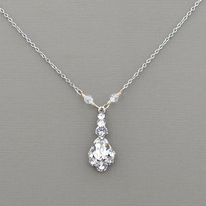 Petite Oval Drop Necklace