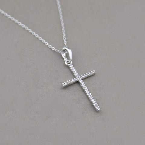 Bentley Pave Cross Necklace
