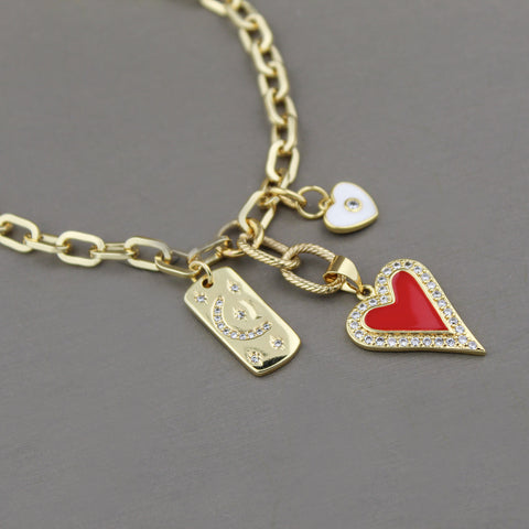 Demi Charm Pendant Necklace