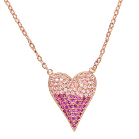 Tiffany Pave Heart Necklace