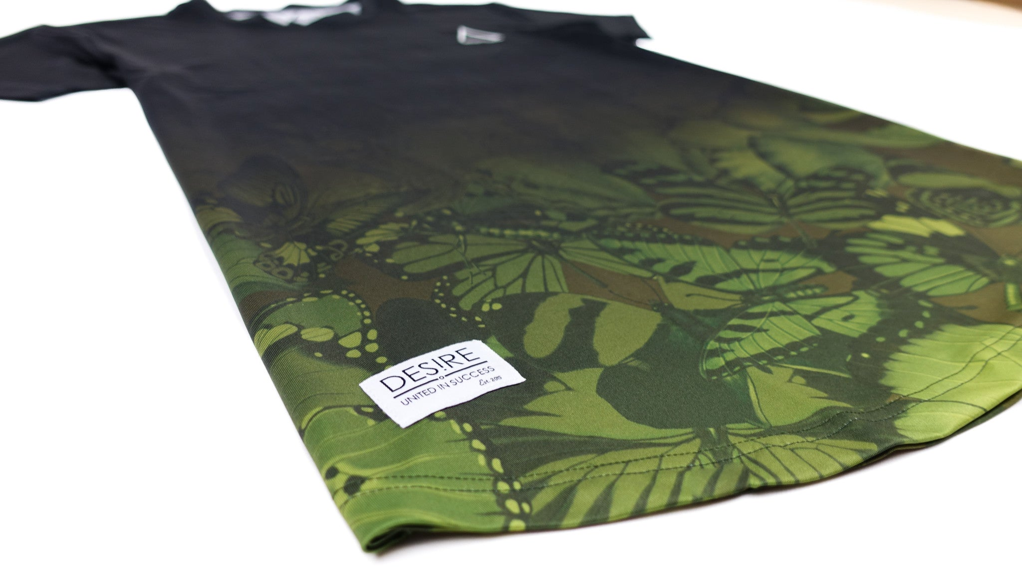 Lepidopteran Tee - Midnight / Olive Green Fade