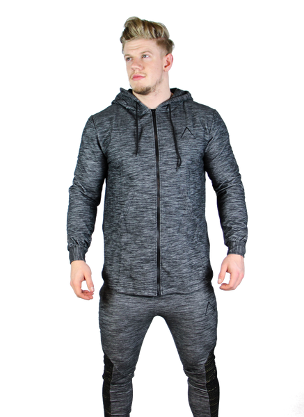 Ambition Triple Zipped Hoodie - Gun Metal