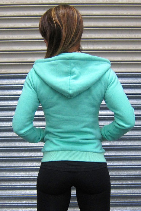 DESIRE Ladies Hoodie - Mint Green