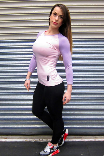 Womens DESIRE Contrast Jersey - Soft Pink/Lilac