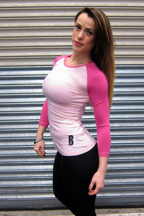 Womens DESIRE Contrast Jersey - Soft Pink/Fuscia