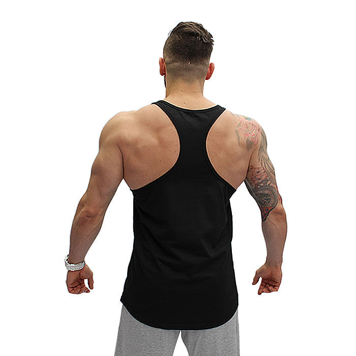 BOOMBabY! Stringer Vest - Black and Pink- Rear