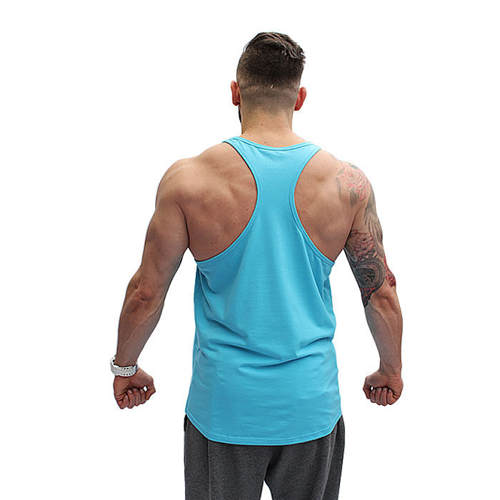 BOOMBabY! Stringer Vest - Blue and White - Rear
