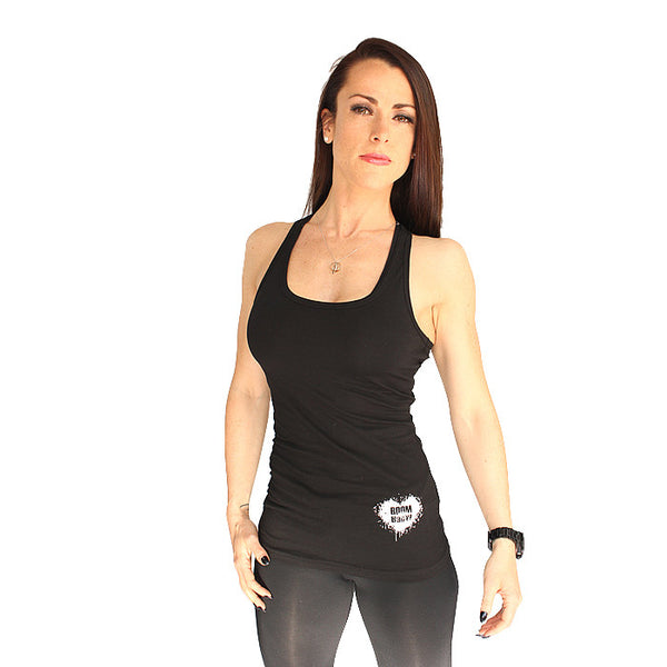 BOOMHeart! Ladies Vest - Black and White
