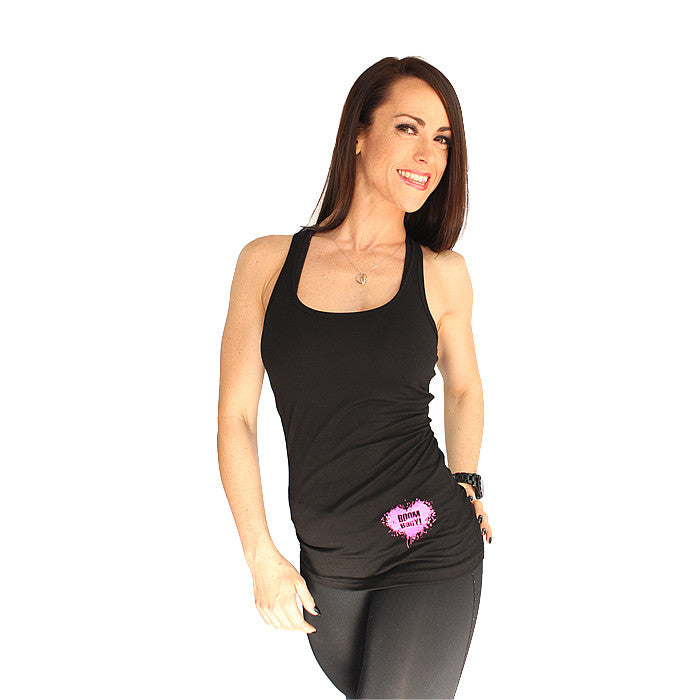 BOOMHeart! Ladies Vest - Black and Pink