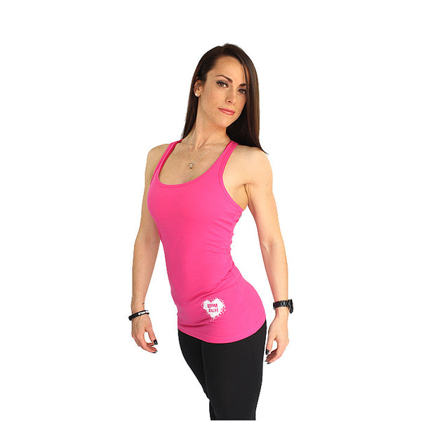 BOOMHeart! Ladies Vest - Pink and White