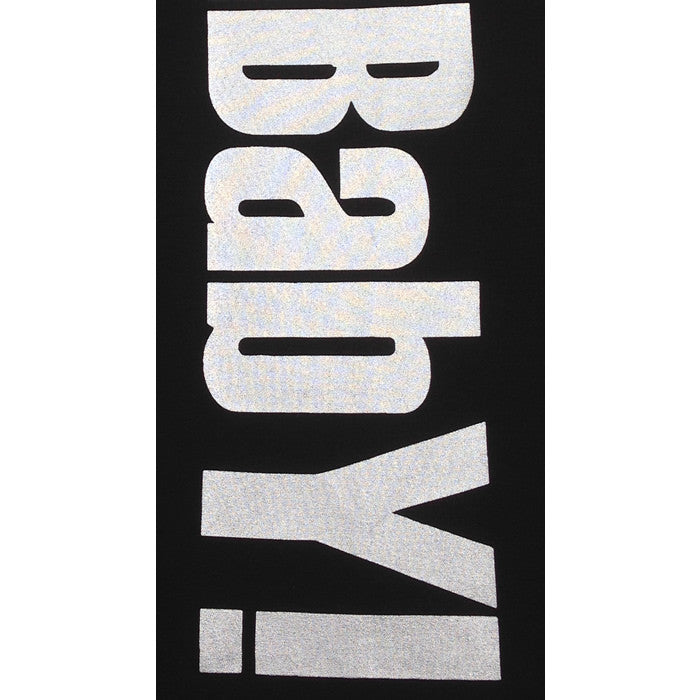 BOOMBabY! Vertical Ladies Vest - Black and Silver