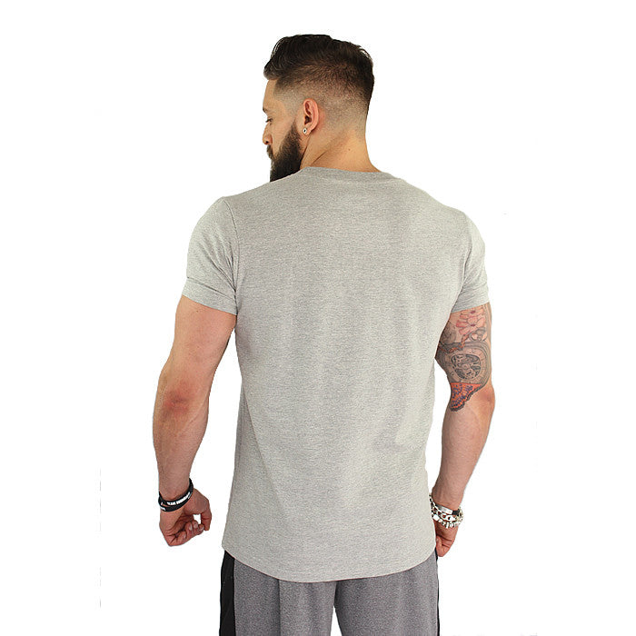 BOOMTeam! Men's Crew Neck T-Shirt - Grey and Black