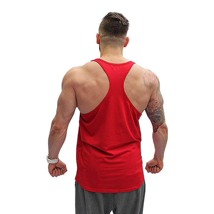 BOOMTeam! Stringer Vest - Red and Black - Rear