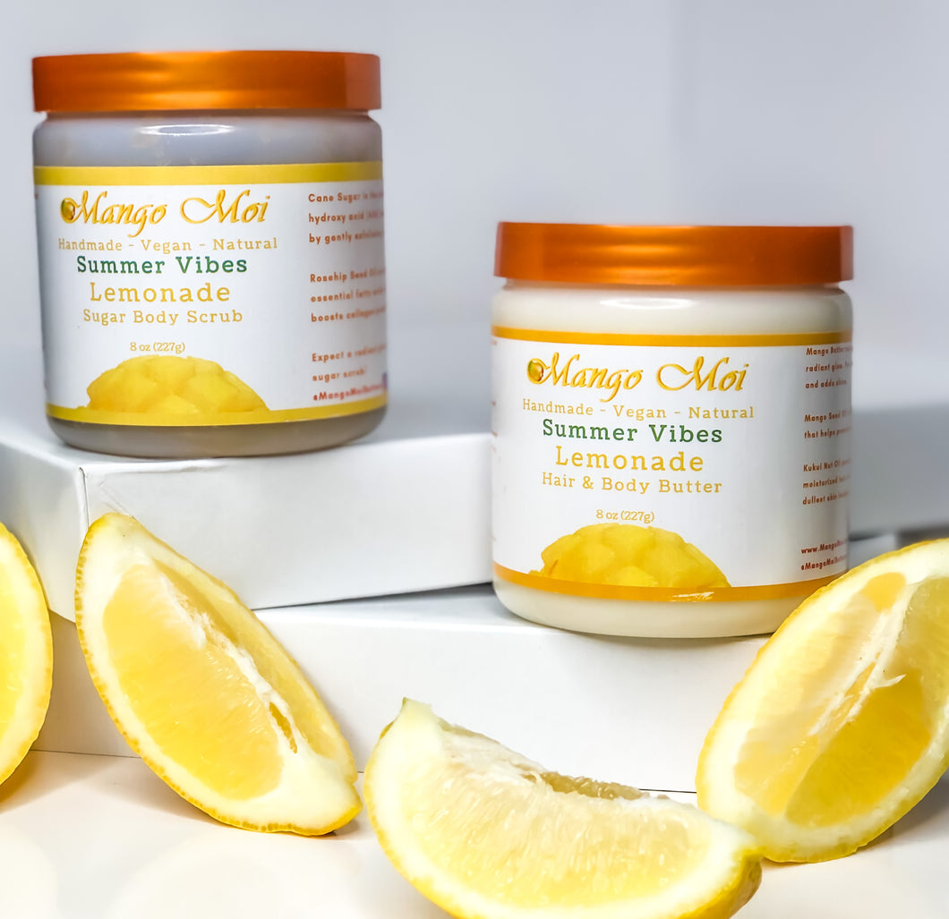 NEW Lemonade Duo - Hair & Body Butter and Sugar Body Scrub