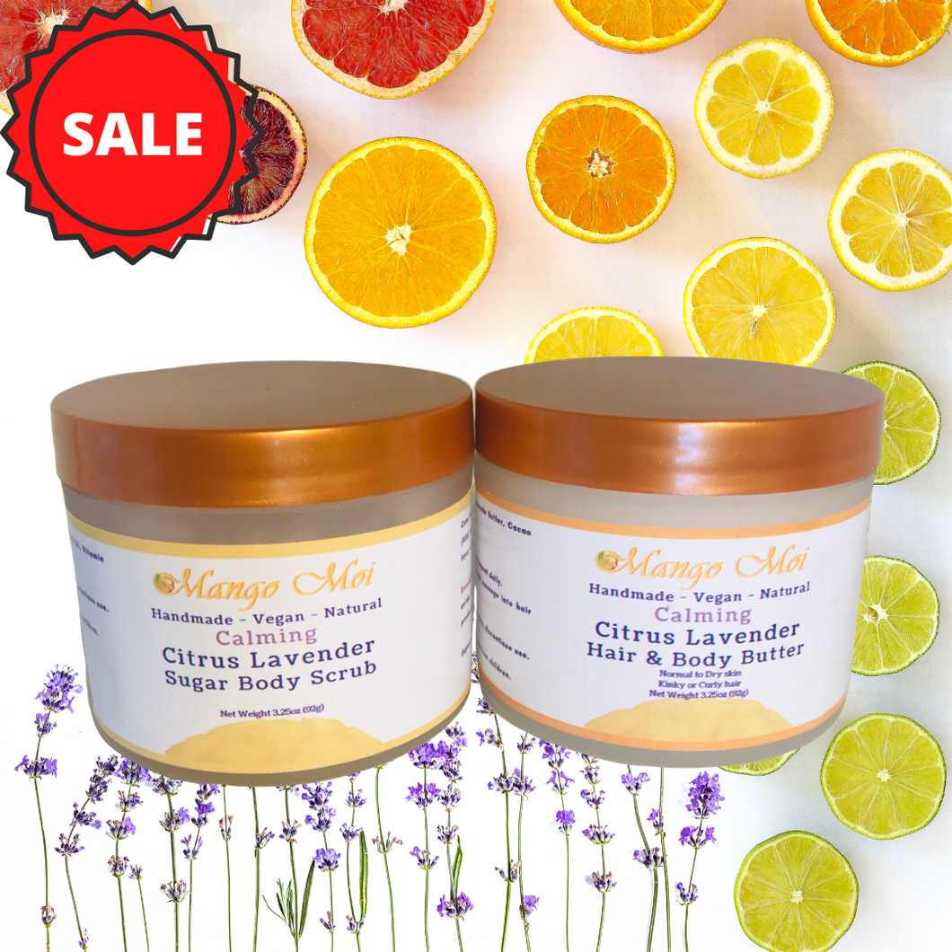 Citrus Lavender Duo - Sugar Body Scrub and Hair & Body Butter
