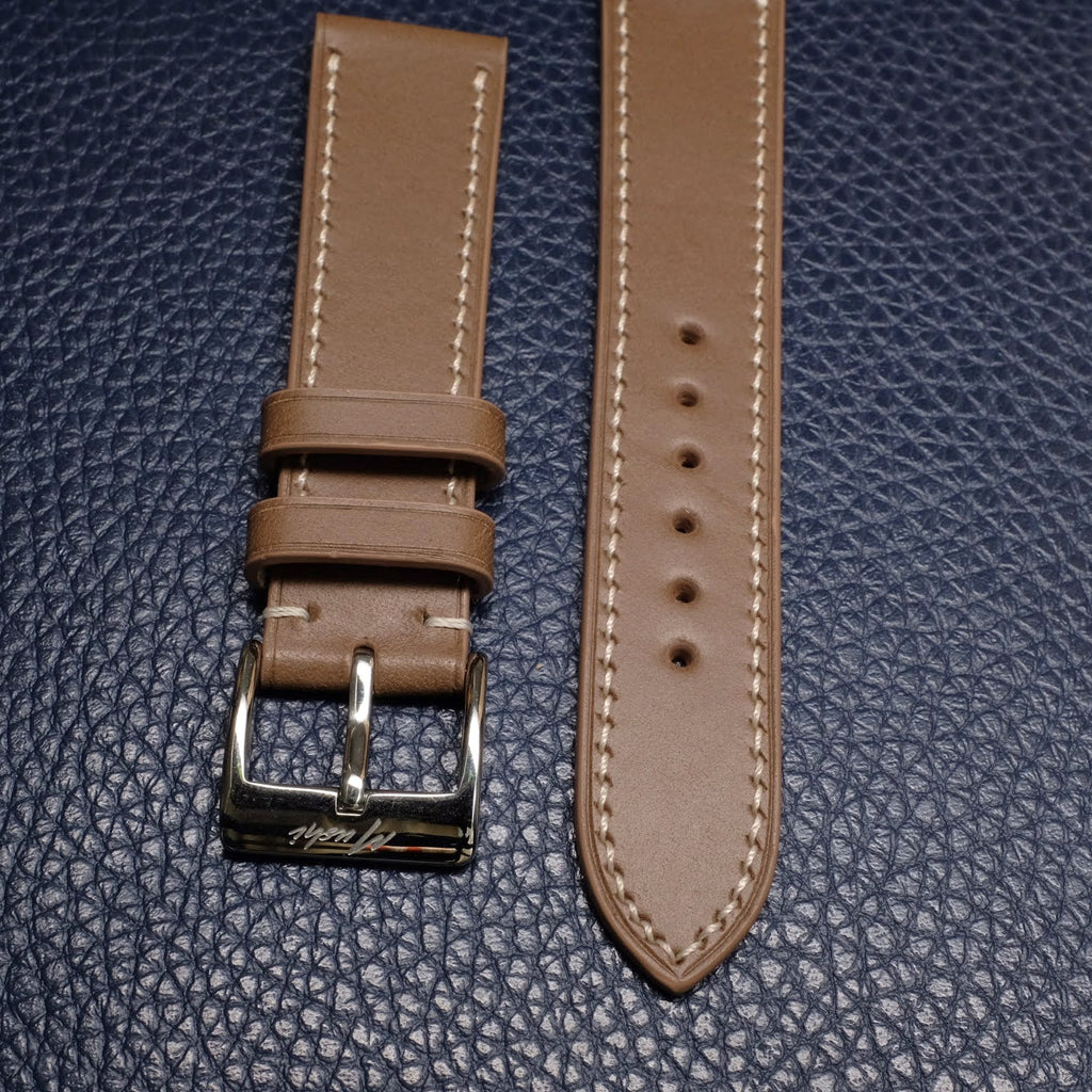 Calf Leather Strap - Taupe - Mushiwatchstraps