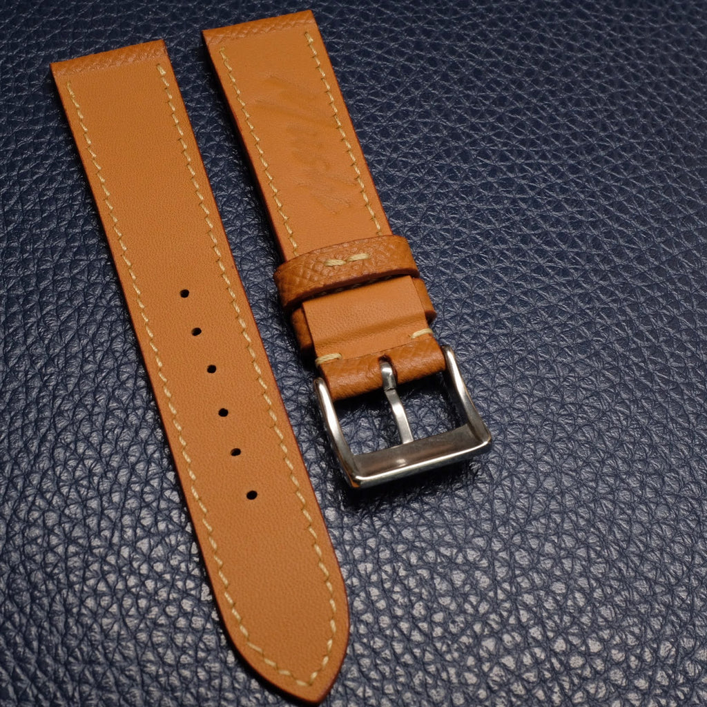 Calf Leather Strap - Mustard - Mushiwatchstraps