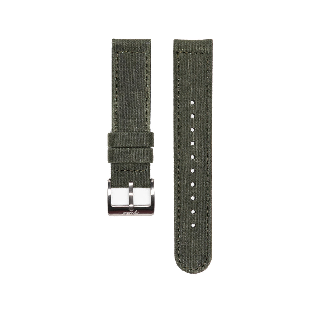 Military Canvas Strap - Army Green - Mushiwatchstraps