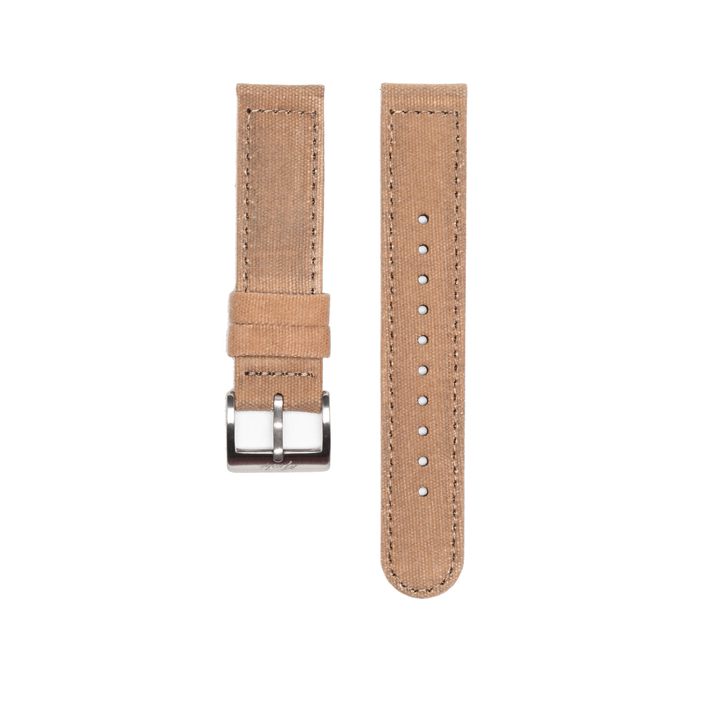 Military Canvas Strap - Khaki - Mushiwatchstraps