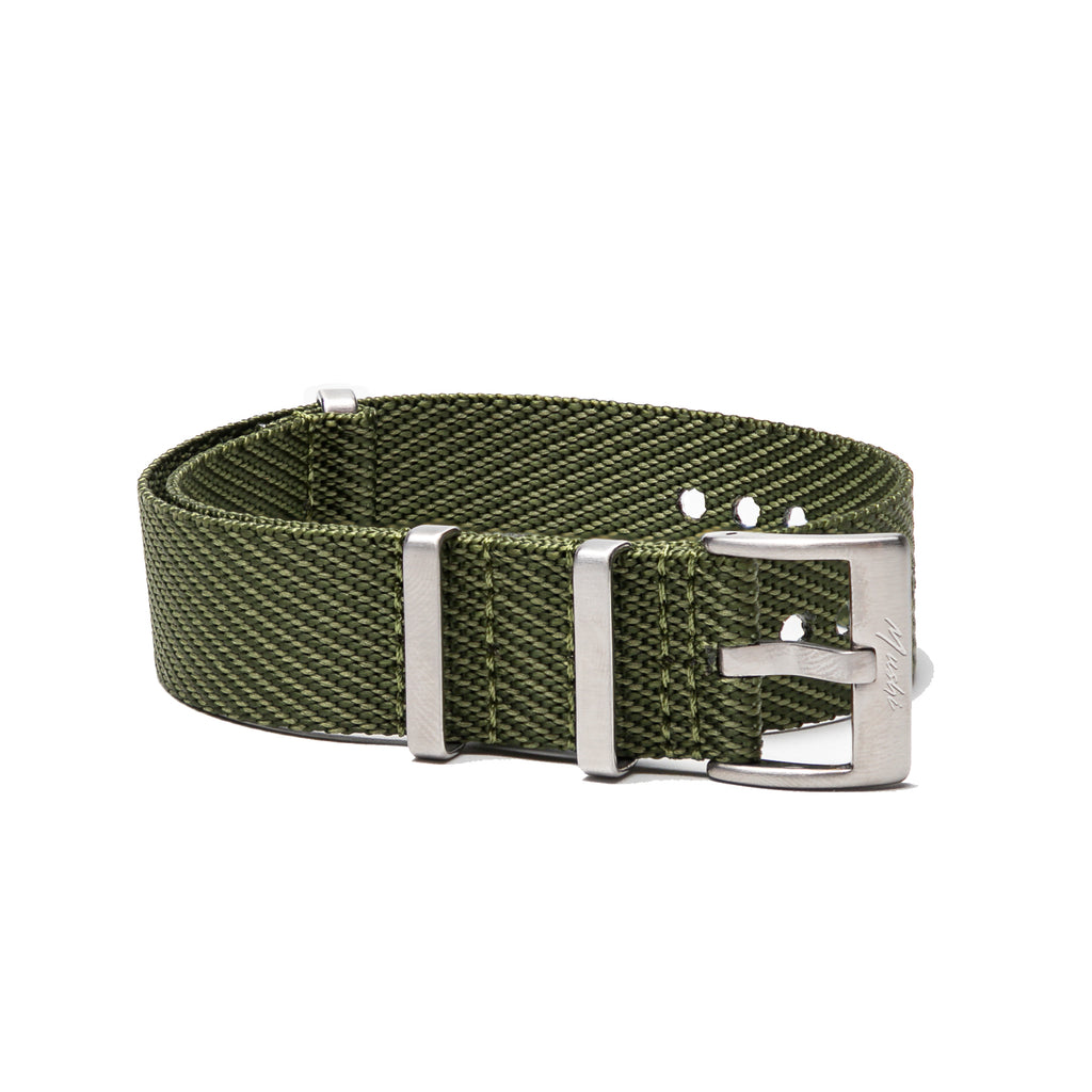 Military Green Woven NATO Strap - Mushiwatchstraps