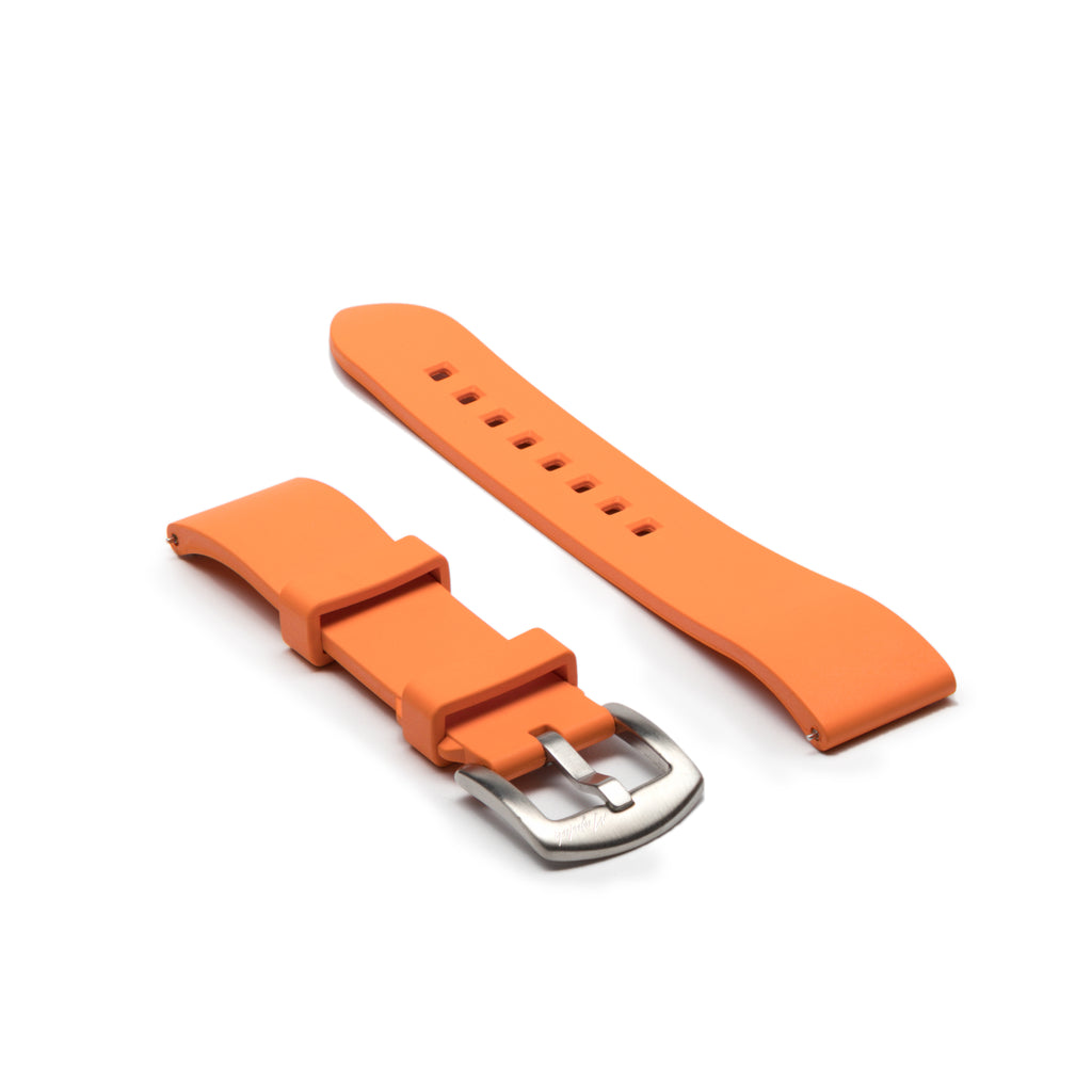 Premium Rubber Strap - Orange - Mushiwatchstraps
