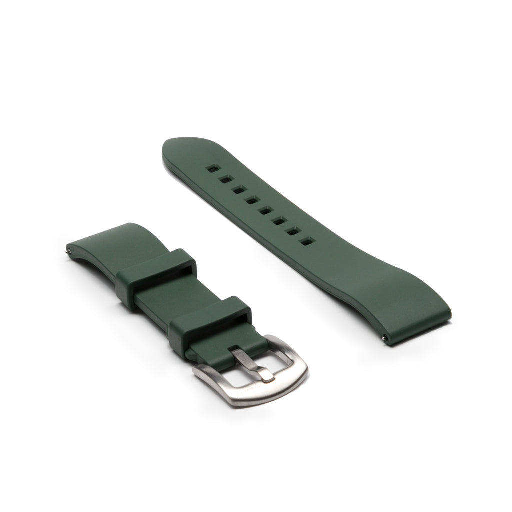 Premium Rubber Strap - Racing Green - Mushiwatchstraps
