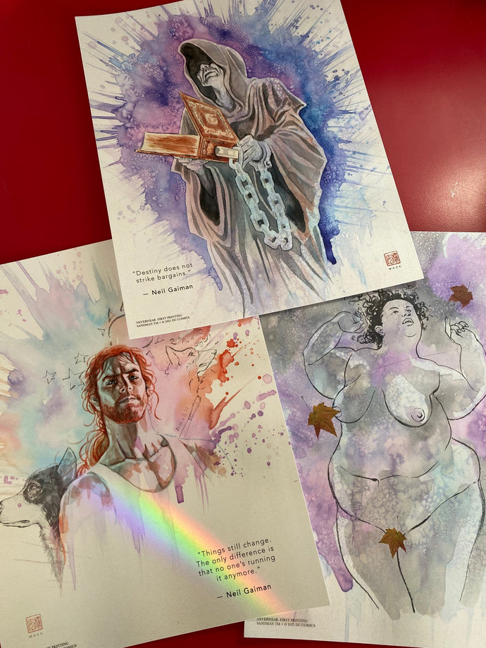 Destiny, Despair, Destruction! 3 new Sandman prints from David Mack!