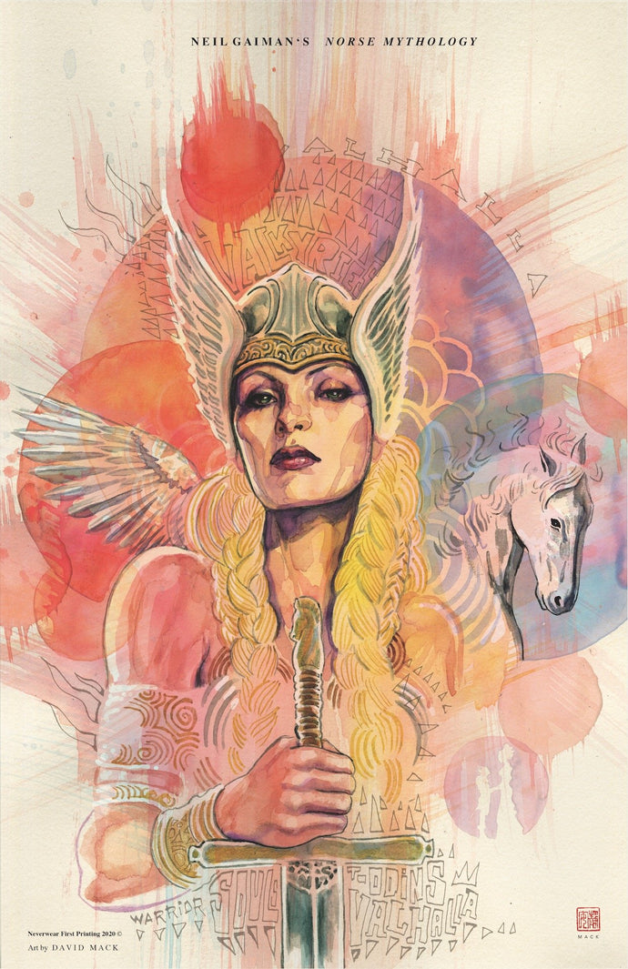 BRAND NEW VALKYRIE PRINT from DAVID MACK! Neil's Norse Mythology