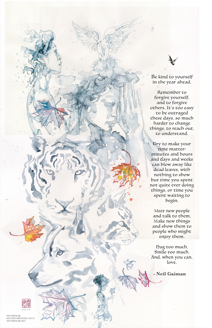 BRAND NEW: 2nd printing of David Mack's Tiger Wish print pre-sale!