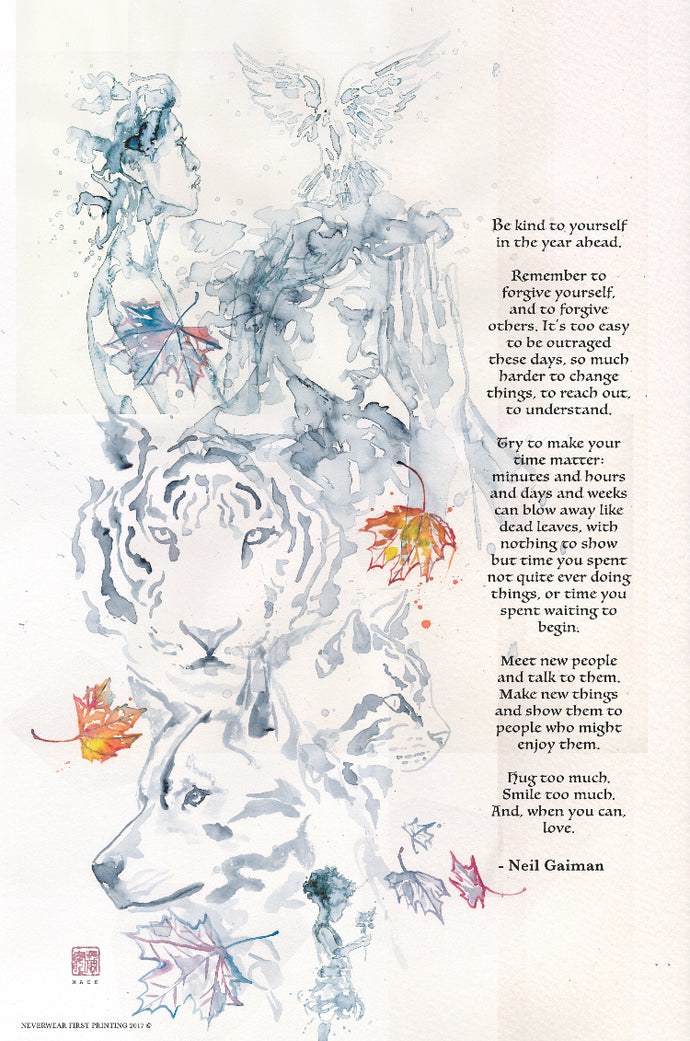 Happy new year, and another New Year's wish from Neil Gaiman & David Mack