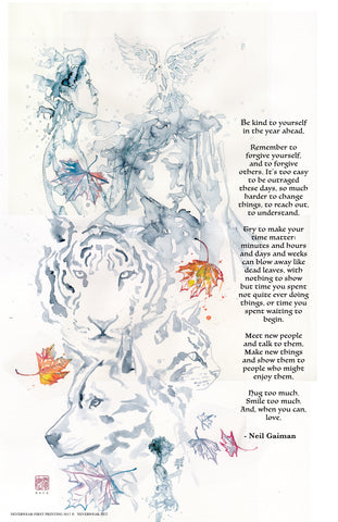 ONLY SIGNED LEFT! Neil\'s New Year Wish 2 illustrated by David Mack ...