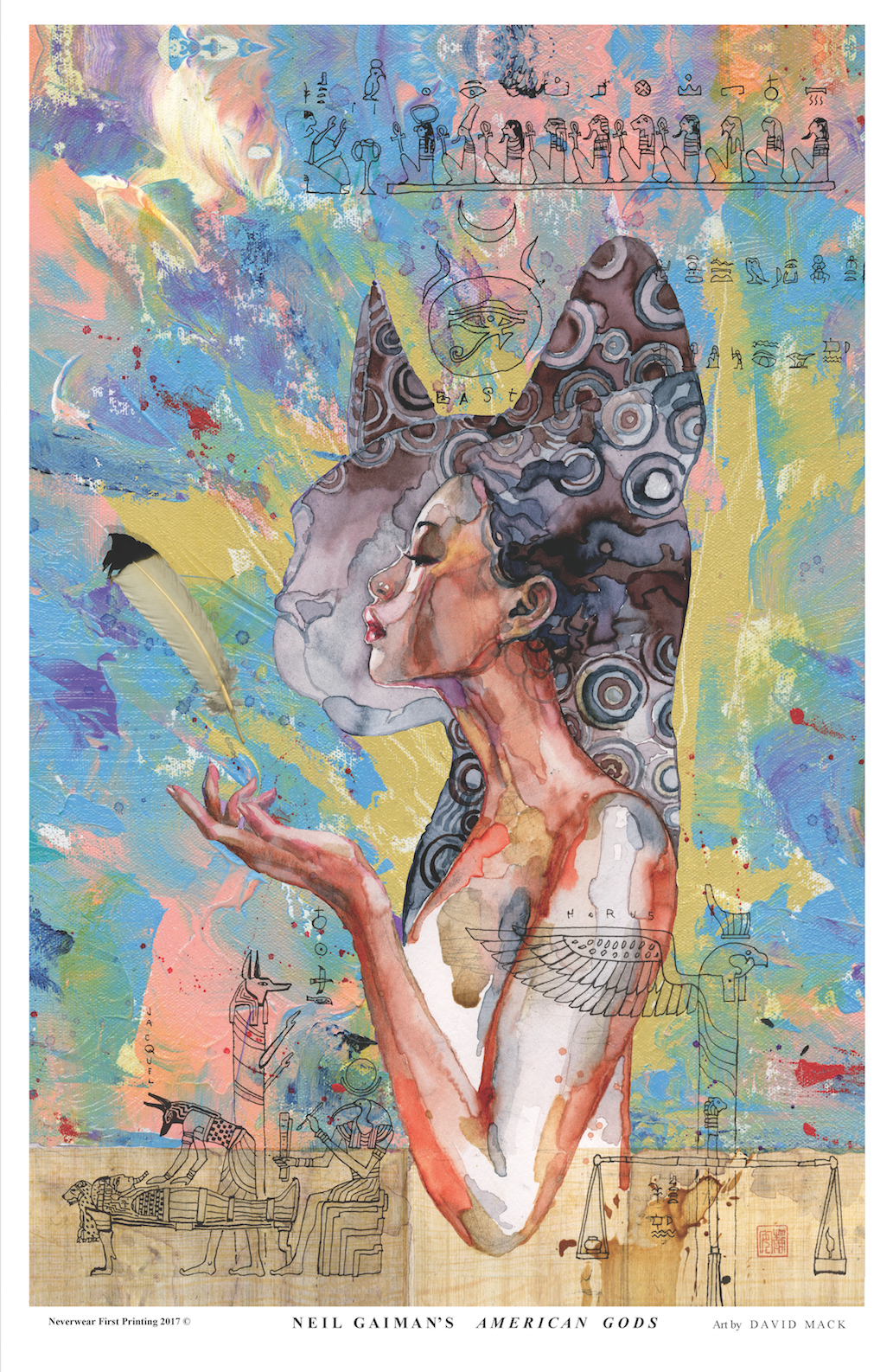 BRAND NEW PRINT! David Mack illustrates American Gods