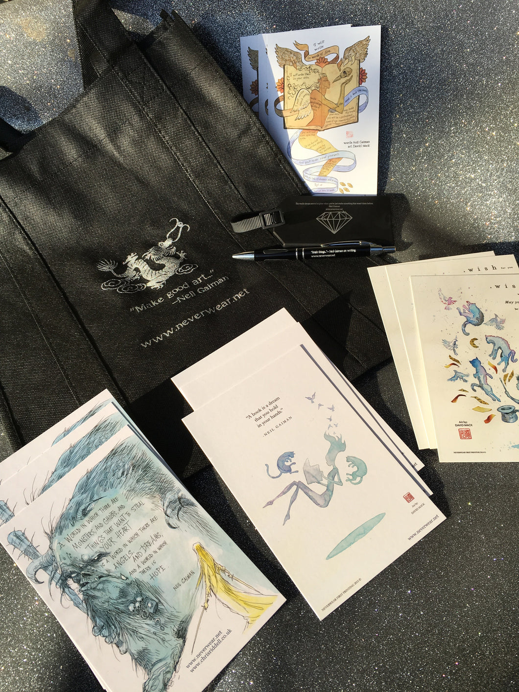 SOLD OUT!! Writer's Kit #4 (plus another chance to win signed-by-Neil bag!)