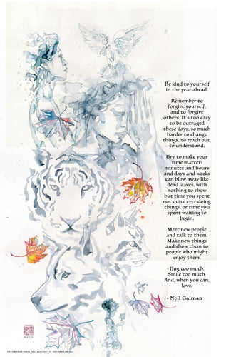 ONLY SIGNED LEFT! Neil's New Year Wish 2 illustrated by David Mack