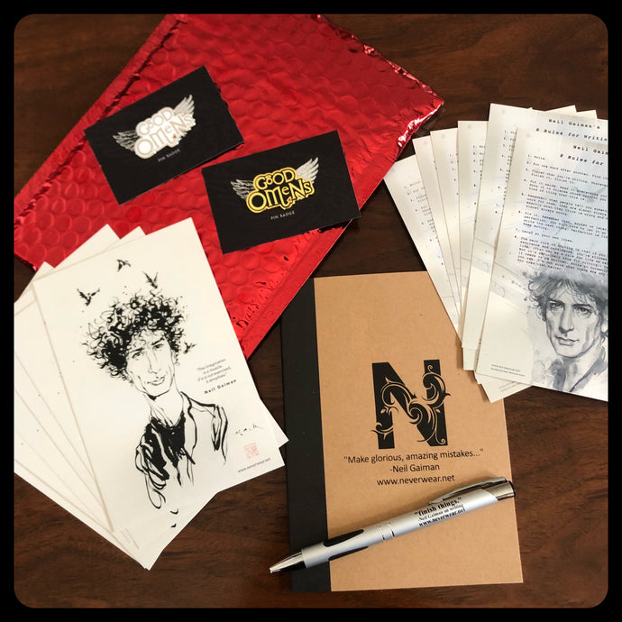 BRAND NEW!! Writer's Kit #7 Chance to win a signed by Neil notebook!