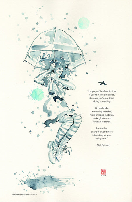 NEW!! David Mack illustrates Neil Gaiman's advice on