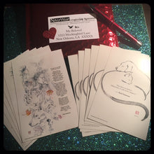 SOLD OUT!!! David Mack Believe postcard & pen set