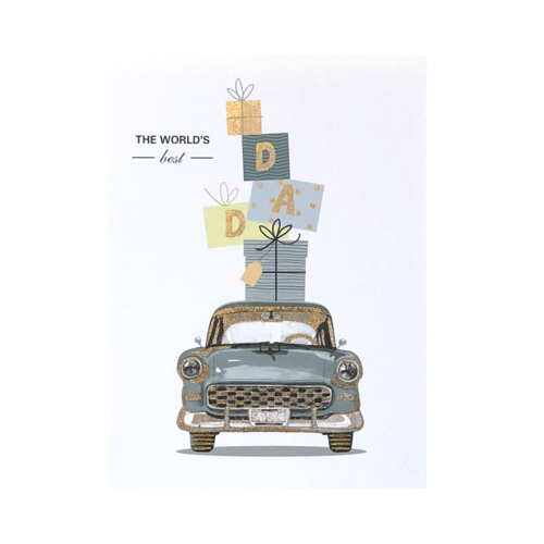 World's Best Dad 'Vintage Car' Card